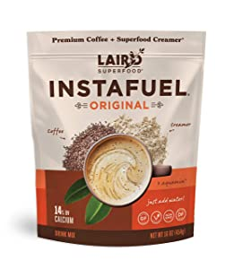 Laird Superfood Instafuel Instant Coffee - Delicious Mix of Premium Coffee and Our Original Superfood Non-Dairy Creamer, 1lb Bag