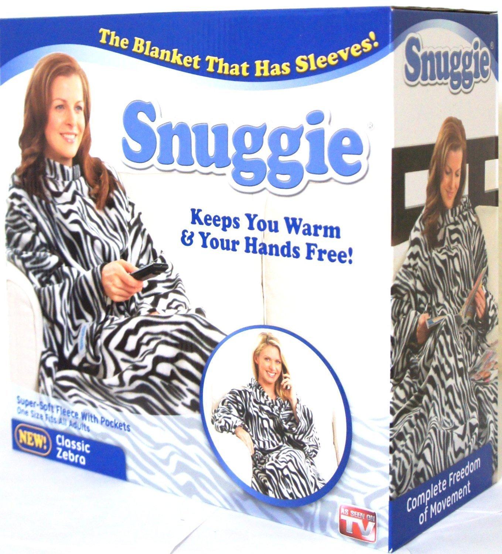 Amazon.com  Snuggie Fleece Blanket As Seen On TV Classic Zebra  Home    Kitchen 78cf06fef