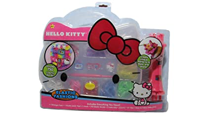 df73cc7a1 Image Unavailable. Image not available for. Color: Hello Kitty Rainbow Loom  Band Bracelet Kit