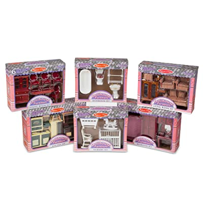Melissa & Doug Victorian Dollhouse Furniture Bundle: Melissa & Doug: Toys & Games