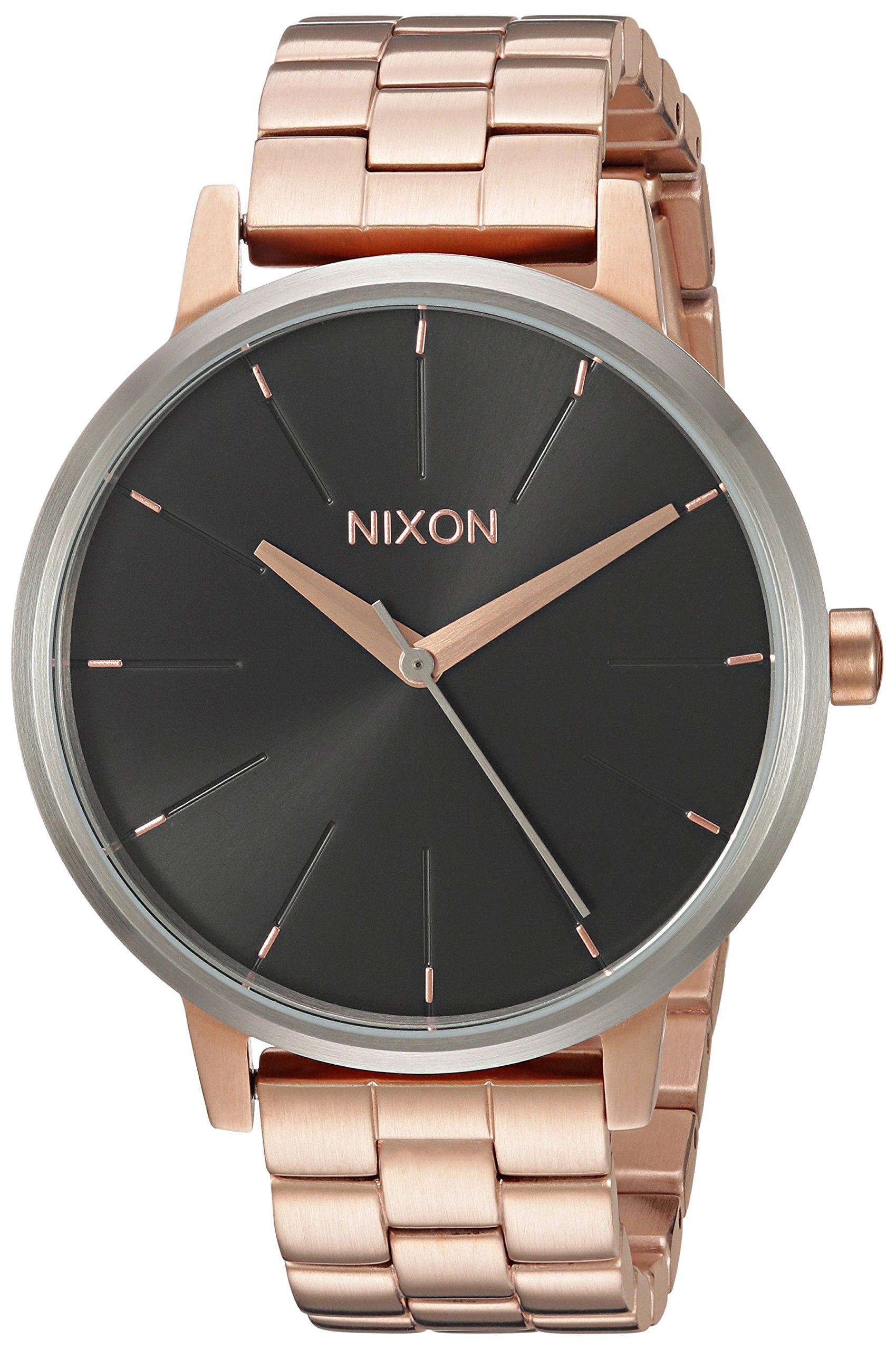 Nixon Women's 'Kensington' Quartz Stainless Steel Watch, Color:Rose Gold-Toned (Model: A0992361-00)