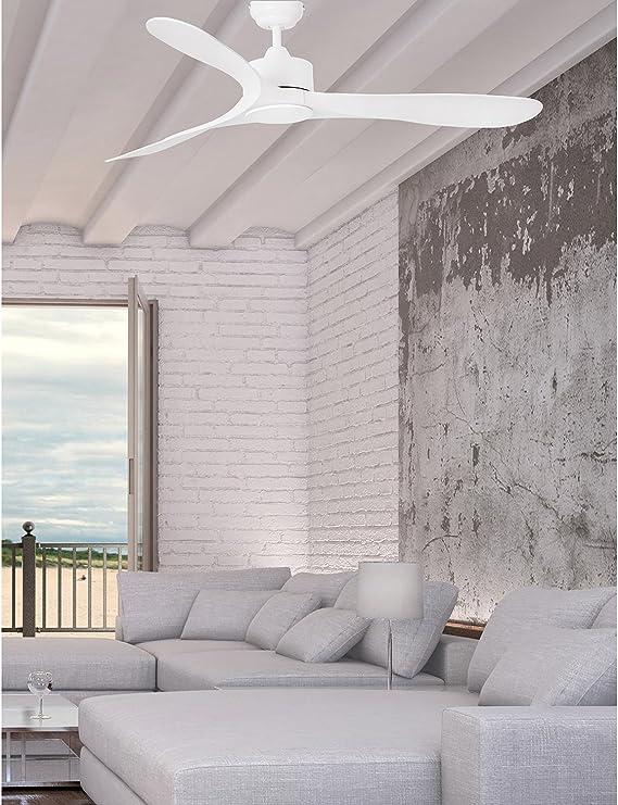 Faro Barcelona 33750 - LUZON Ventilador de techo blanco sin luz ...
