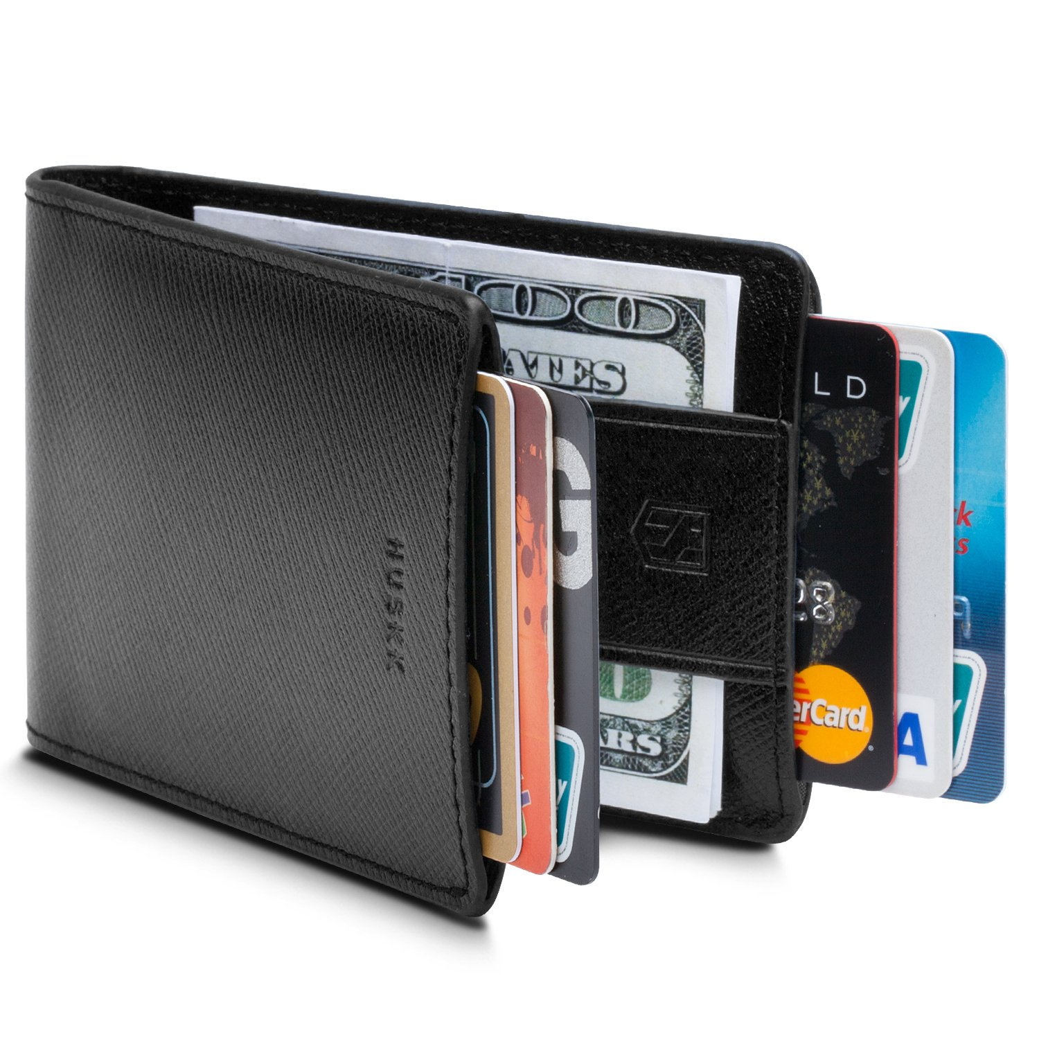 cdc70ae570b Amazon.com  Men Wallet - RFID Minimalist Slim Front Pocket Card Travel  Holder Clip D1  Shoes