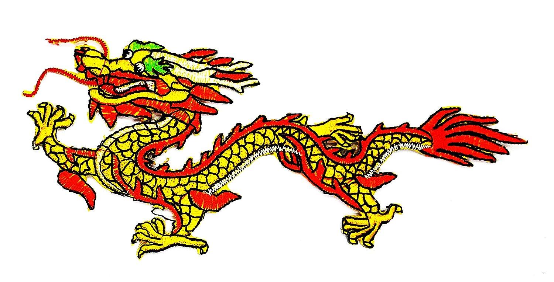RABANA - Parche de tatuaje de dragón chino Kung Fu para ...