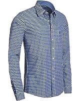 Trachtenhemd Slimline in blau von Almsach
