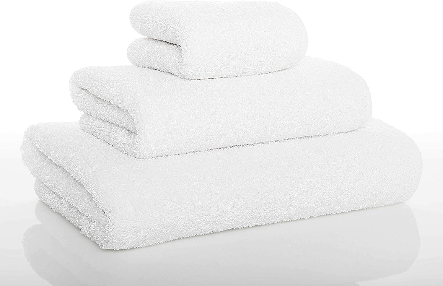 Amazon Com Graccioza Long Double Loop Bath Towel 28 X 55 White Made In Portugal 700 Gsm 100 Egyptian Cotton Home Kitchen