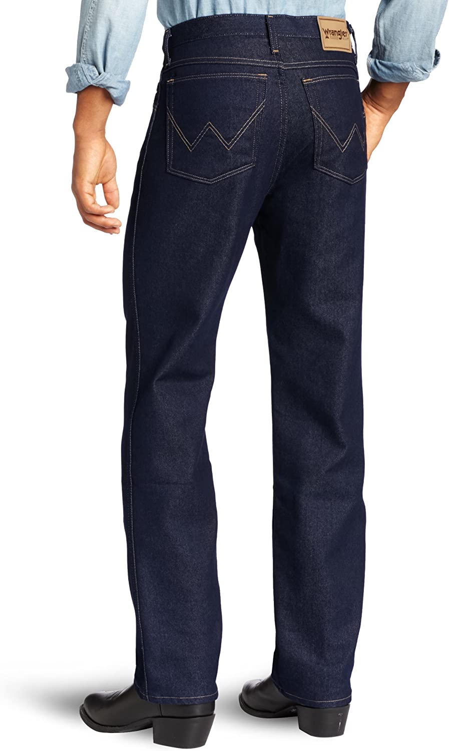 Wrangler Mens Big /& Tall Rugged Wear Regular-Fit Stretch Jean