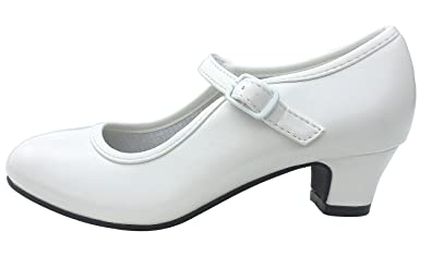La Senorita Spanische Flamenco Schuhe - Weiß - Größe 39 - Innenmaß 24,5 cm