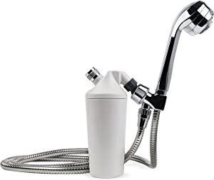 Aquasana AQ-4105CHR Deluxe Water System with 5' Wand Premium Massaging Head, Chrome shower filter