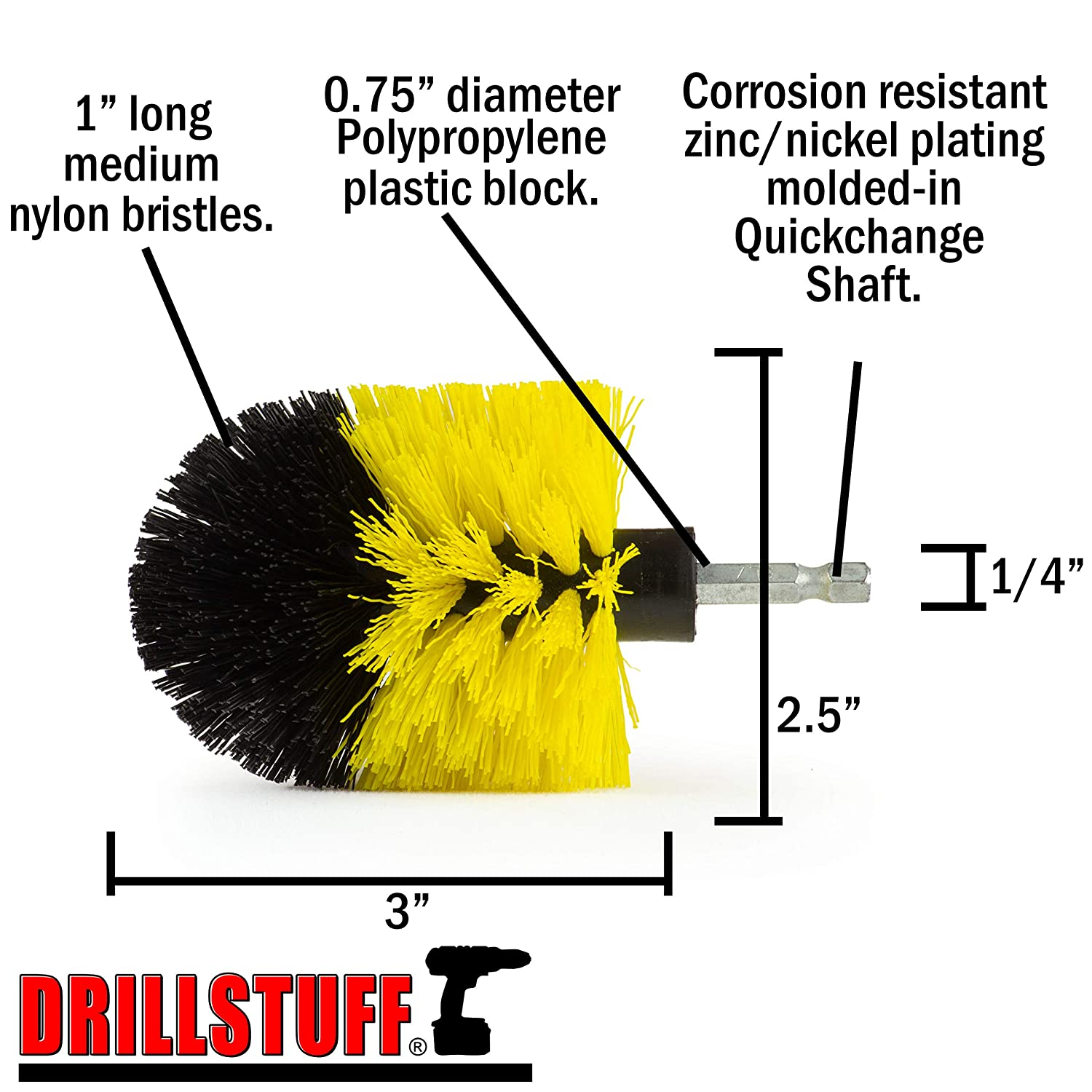 Rust Remover Drillstuff K-O-QC-DS Grill Tools Smokers and Grills Grill Accessories Gas Grill Electric Smoker Grill Cleaner Grease BBQ Accessories Grill Brush BBQ Brush Grill Scraper Drill Brush