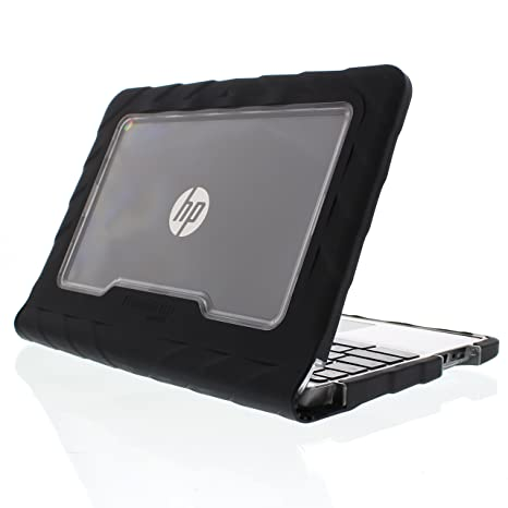 Amazon.com: Gumdrop Cases Droptech Chromebook Case for HP Chromebook 11 G5 EE Rugged Shock Absorbing Cover Black/Black 1FX82UT, 1FX83UT, 1BS77UT, ...