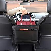 $25 » BXKM Car Net Pocket Handbag Holder, Genuine Leather Car Seat Back Organizer, Handbag…