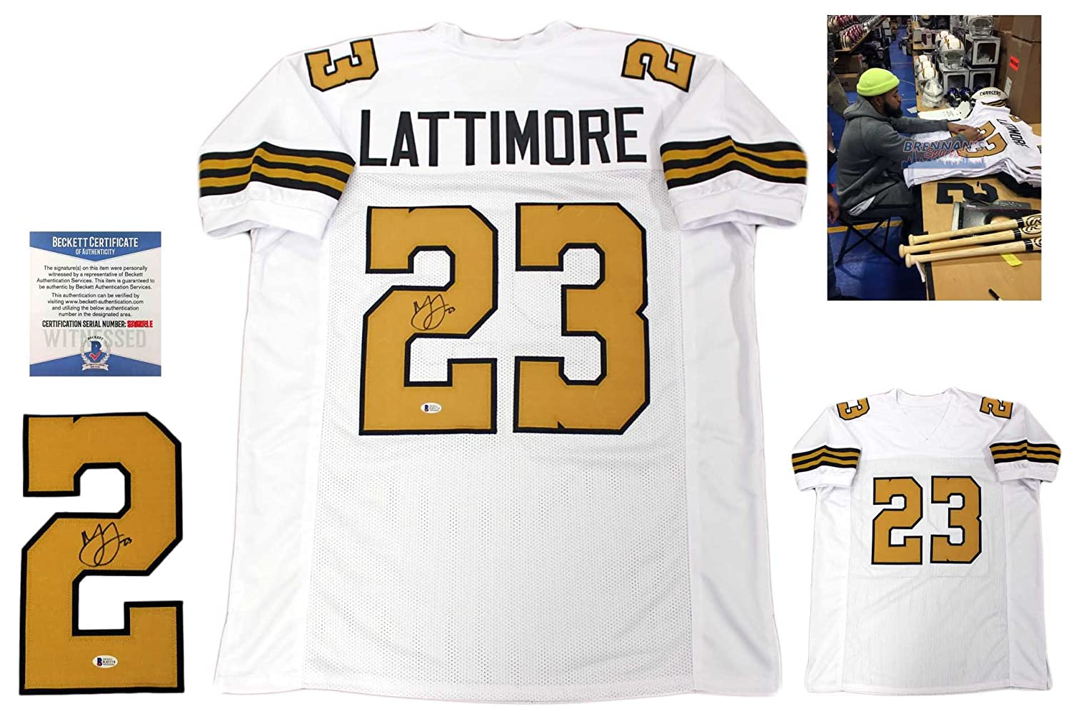Marshon Lattimore Autographed Signed Jersey - Beckett Authentic - White