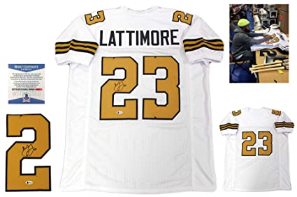 Image Unavailable. Image not available for. Color  Marshon Lattimore  Autographed Signed Jersey ... 07b582f9e