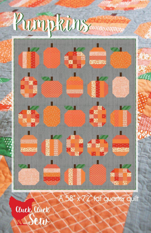 Pumpkins Quilt Pattern by Cluck Cluck Sew #167 -58 x 72