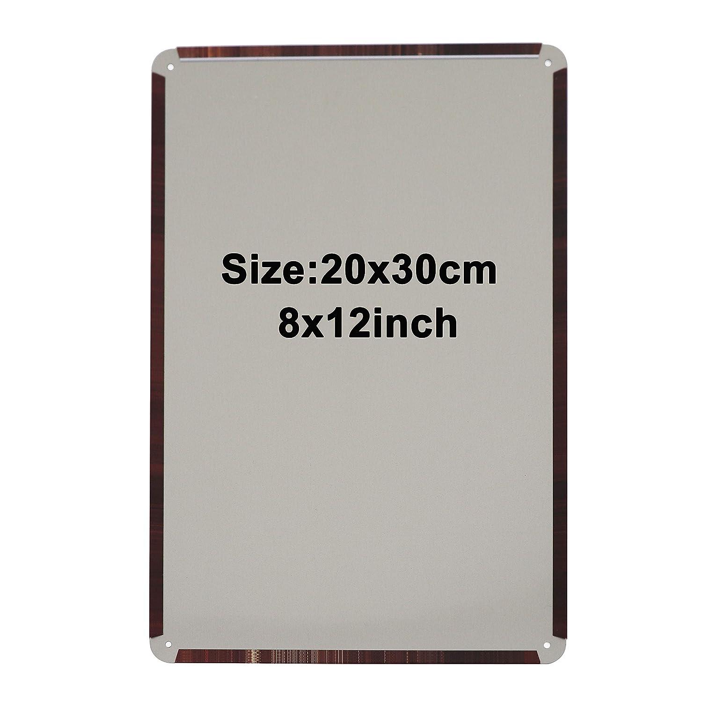 20*30cm by JSK Decor JSC0303 Metal Poster Tin Sign Plate