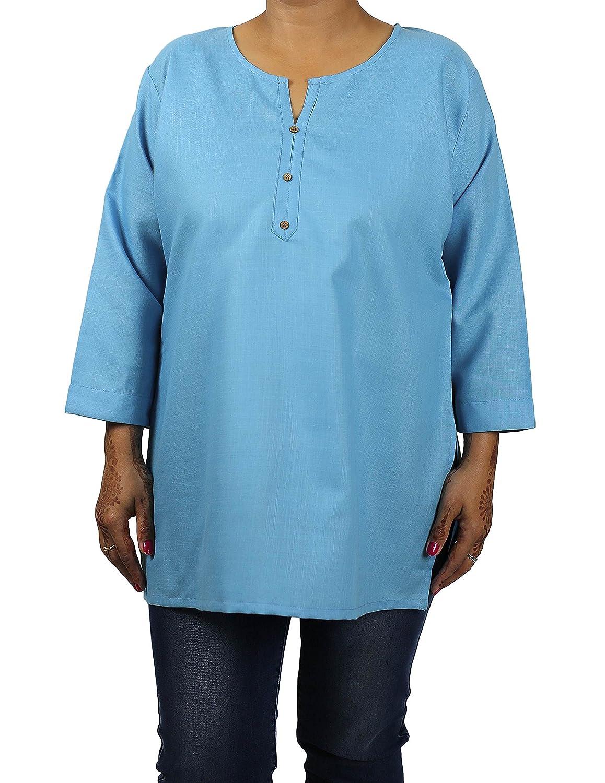 ShalinIndia Indische Designer-Kurti-Tunika für Frauen – Luxuriöse Kurtis – Baumwoll- & Viskosetops für Frauen