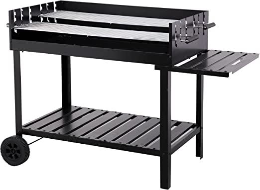 Tepro Atlanta Parrilla Carro Carbón Vegetal Negro - Barbacoa (Parrilla, Carbón Vegetal, Carro, Plancha, Negro, Rectangular): Amazon.es: Jardín