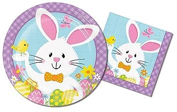Easter Party Supplies Paper Plates u0026 Napkins Bundle - 2 Items 9 Inch Paper Plates  sc 1 st  Amazon.com & Amazon.com: Easter Party Supplies Paper Plates u0026 Napkins Bundle - 2 ...