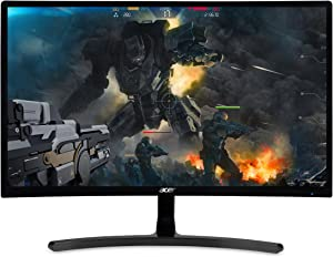 "Acer Gaming Monitor 23.6"" Curved ED242QR Abidpx 1920 x 1080 144Hz Refresh Rate AMD FREESYNC Technology (Display Port, HDMI & DVI Ports),Black"