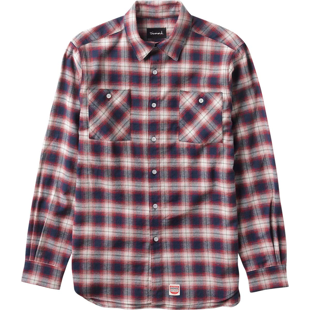 Diamond Ombre Flannel Long-Sleeve T-Shirt
