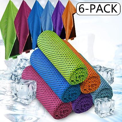 2 Pack Toalla de Enfriamiento de Hiel Toalla de Microfibra Gimnasio Quick Dry Viaje//Camping Toalla