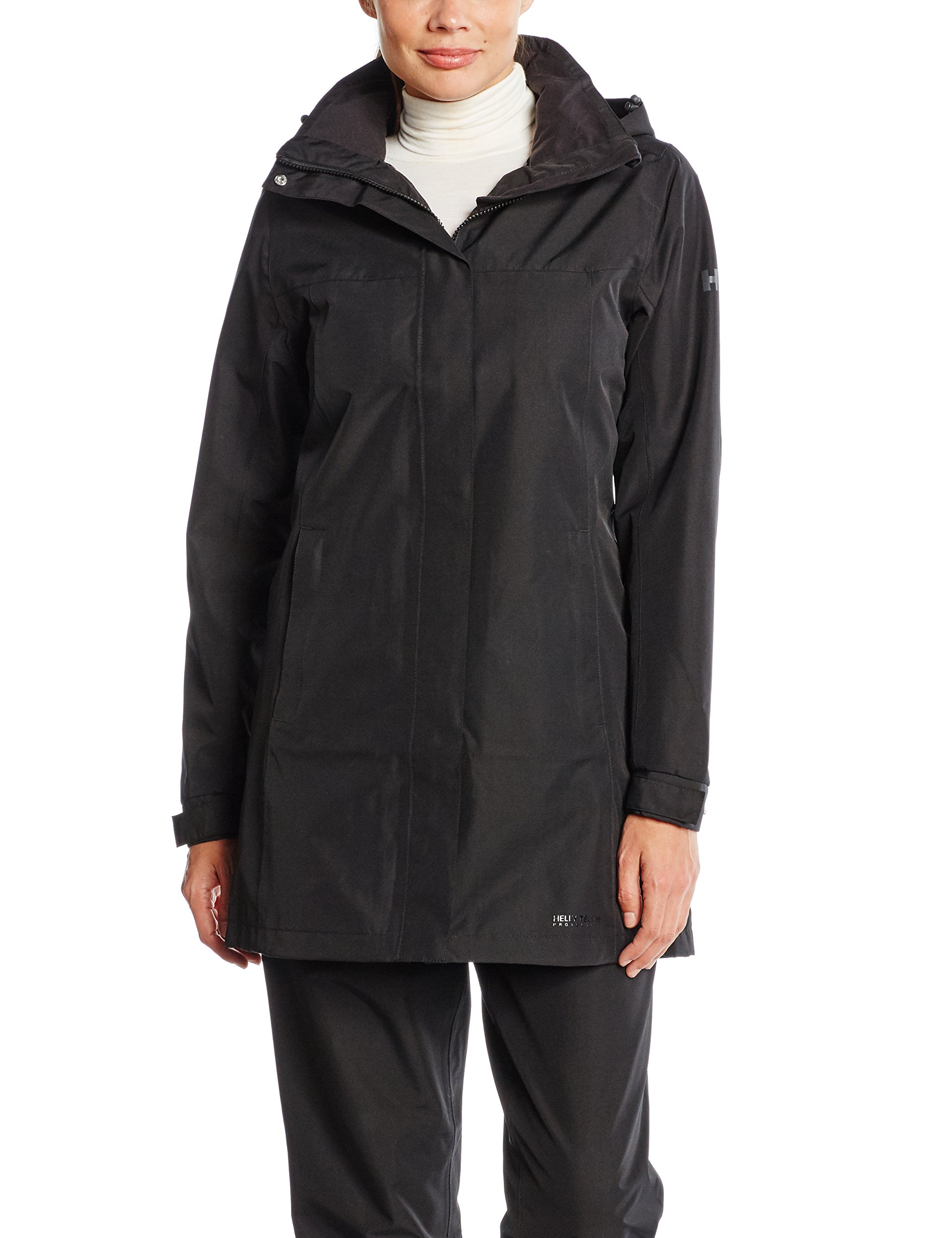 Helly Hansen Women's Aden Long Shell Jacket, Black, XX-Large