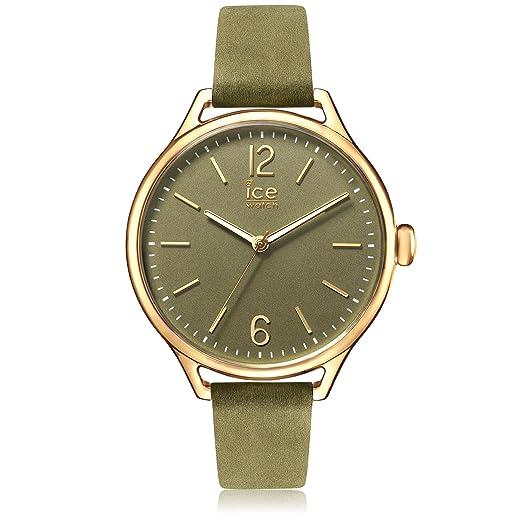 Ice-Watch - ICE time Khaki - Reloj verde para Mujer con Correa de cuero