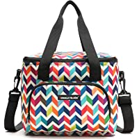 Lunch Box Bag Thermal Insulated Breastmilk Cooler Tote Bag with Adjustable Strap Zipper for Work Travel School Picnic
