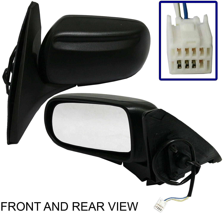 Black Cap Folding US Auto Parts PROTEGE 99-03 SIDE MIRROR LEFT DRIVER Power