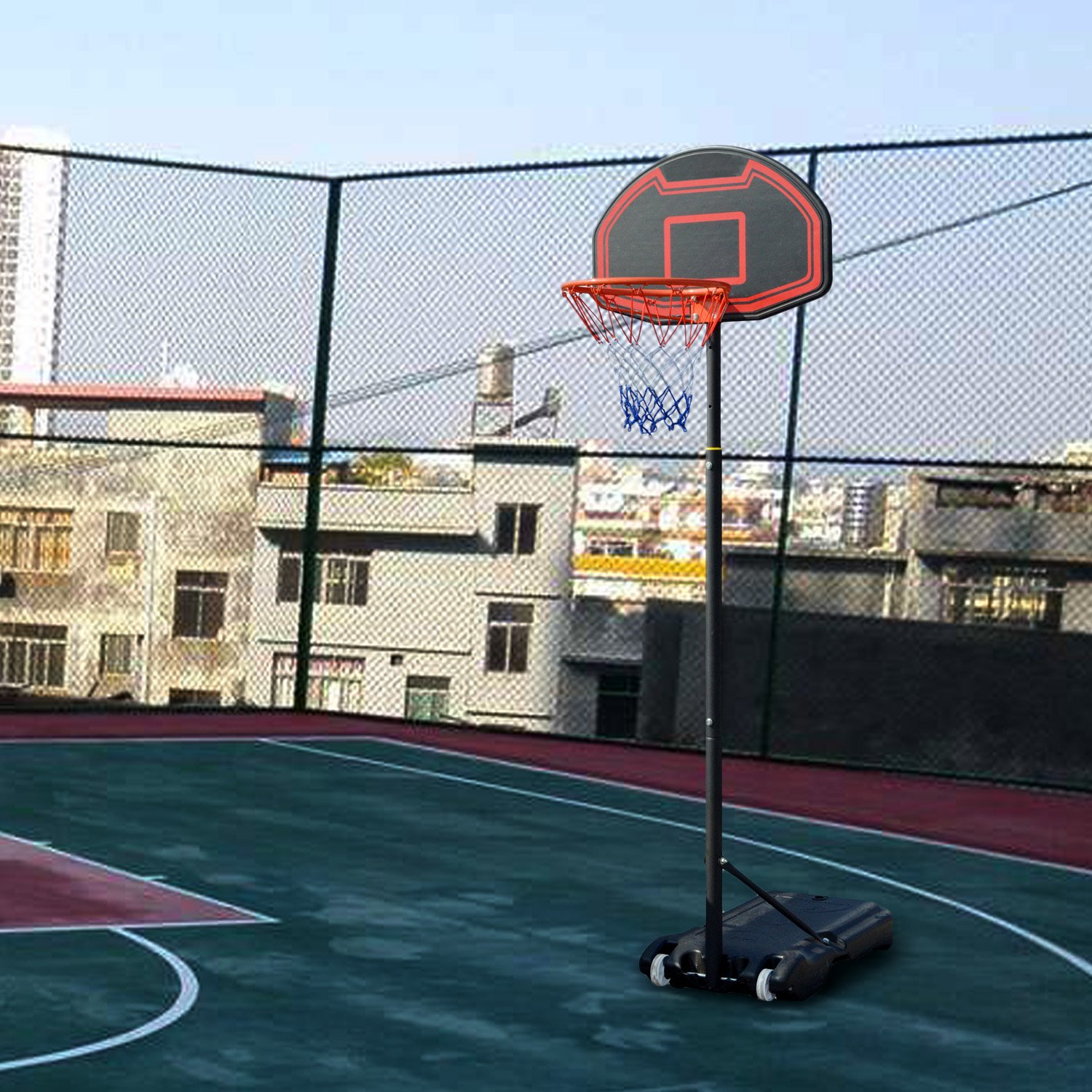 US Stock Indoor Double Shot Folding Basketball Arcade System Electronic Hoops Scoring with 5 Balls Cosway Electronic Basketball Game