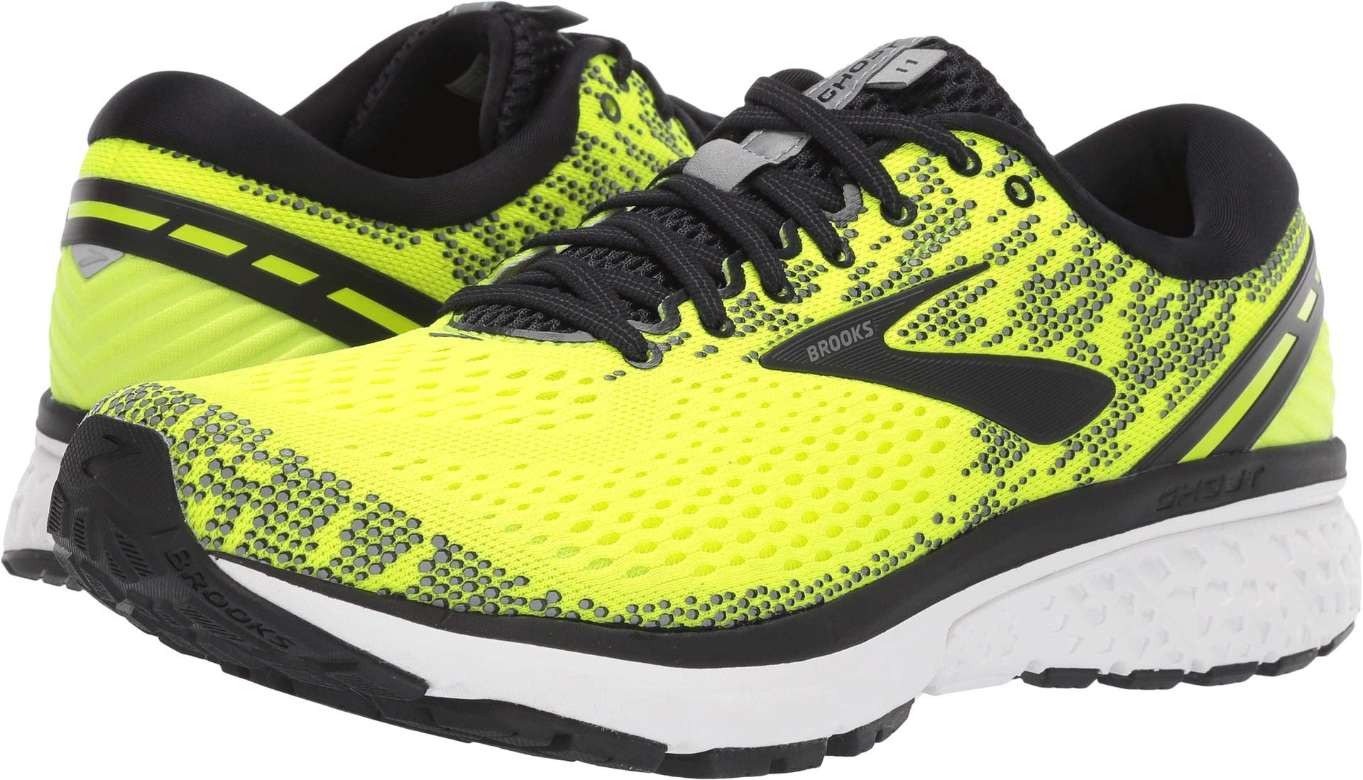 Brooks Men's Ghost 11 Nightlife/Black/White 13 D US by Brooks (Image #1)
