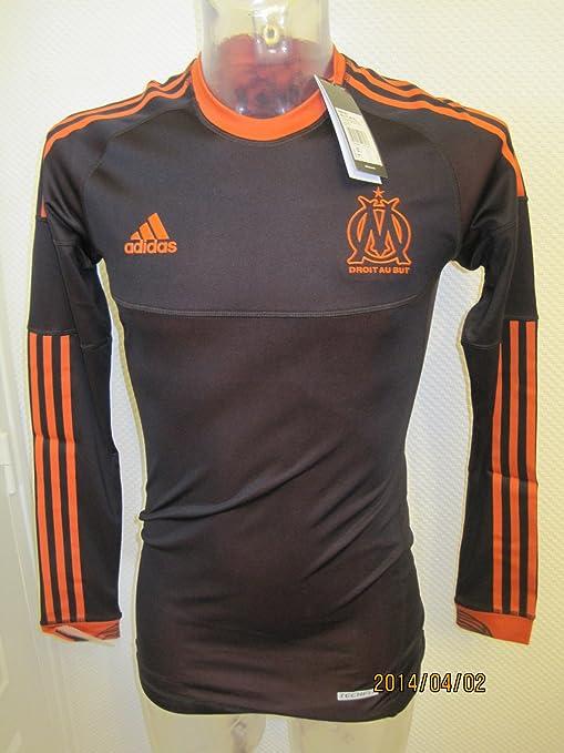Adidas OLYMPIQUE MARSEILLE TECHFIT REVERSIBLE 3rd Camiseta de Fútbol Naranja Negro per Hombre