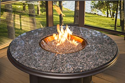Outdoor Great Room Chat Crystal Fire Pit with Granite Top, 48-Inch - Amazon.com : Outdoor Great Room Chat Crystal Fire Pit With Granite