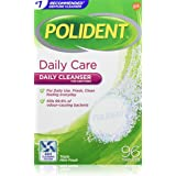 Polident Daily Retainer and Denture Cleaner, 4 in 1 Cleaning System, Stain and Plaque Remover, Triple Mint Fresh, 96 Tablets