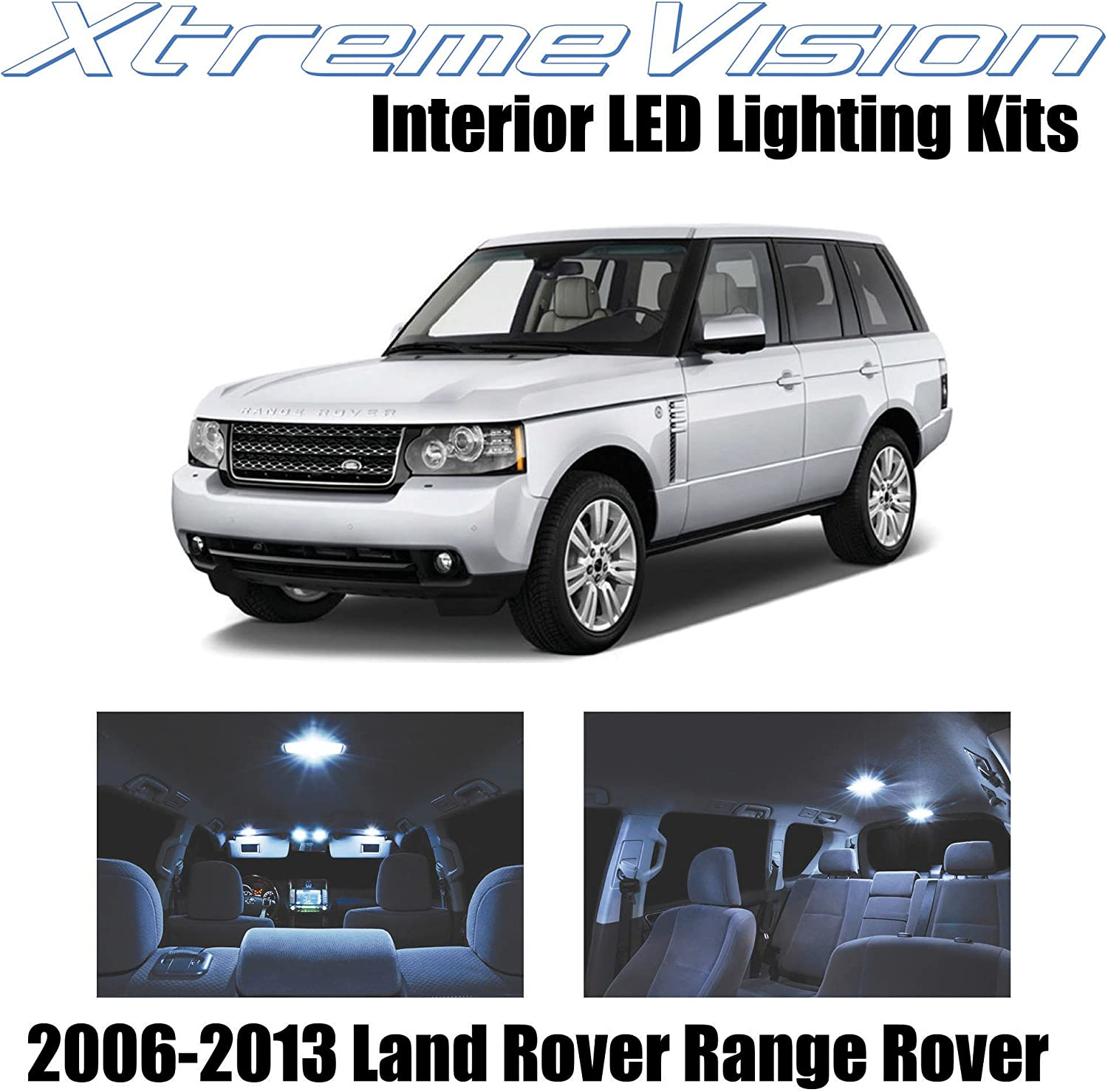 Xtremevision Interior LED for Land Rover Range Rover 2006-2013 (14 Pieces) Cool White Interior LED Kit + Installation Tool