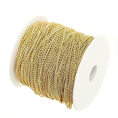 067ebaa5745b xinyiwei Cadena de hierro dorado de 5 metros para bisutería ...