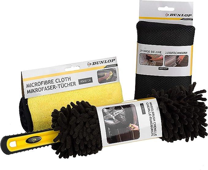 Dunlop 3 Teiliges Felgenbürsten Set Felgenbürste Für Alufelgen Extra Weich Felgen Bürste Effektive Reinigung Felgenreinigungsbürste Auto
