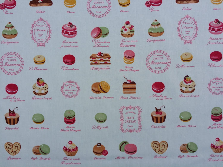Telas de pastelería francesa de Prestigio Macarons popelín de ...