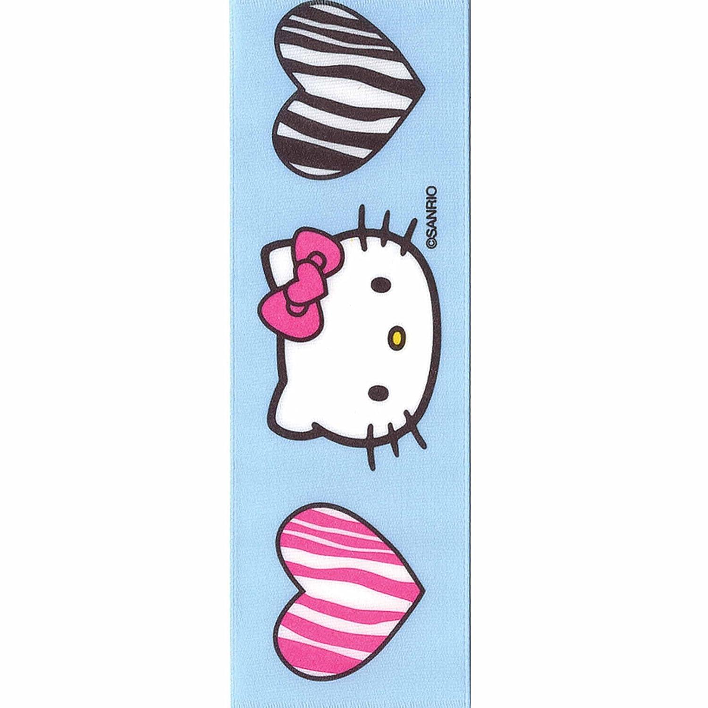Offray Hello Kitty Craft Ribbon, 1 1/2-Inch x 9-Feet, Zebra Hearts by Offray   B00C7ARGVC
