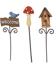 Darice 30007604 Fairy Garden Supplies - Mini Picks, Miniatures, One Size, Multicolor, 3ct