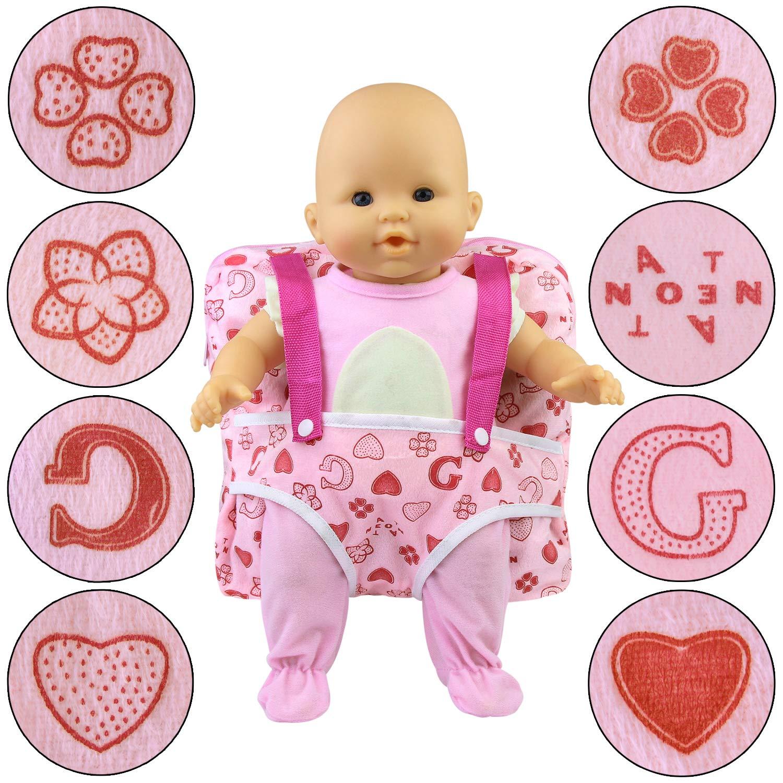ZITA ELEMENT 1 Pezzi Porta Zaino da Bambola Accessori per American Girl Doll e Altre Bambole da 14-18 Pollici 35-46 cm