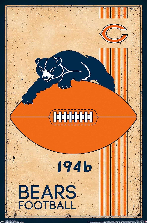 Trends International Chicago Bears Retro Logo Wall Poster 22.375