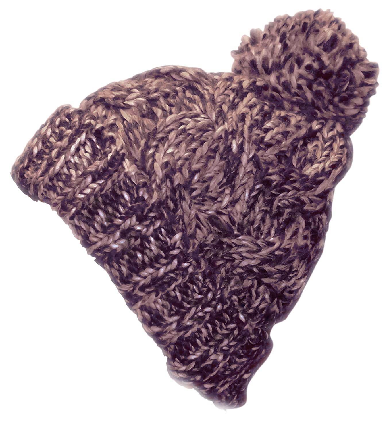 a6c41a6d84e Peach Couture Knitted Cozy Warm Winter Boho Slouch Snowboarding Ski Hat  Brown Red Combo at Amazon Women s Clothing store
