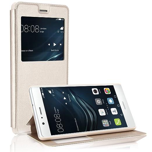 10 opinioni per Custodia in pelle Huawei P9 lite, EnGive PU Premium pelle SmartView caso di
