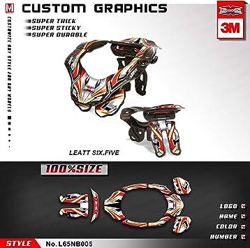 Kungfu Graphics - Pegatinas para cuello para Leatt GPX 6.5 y ...