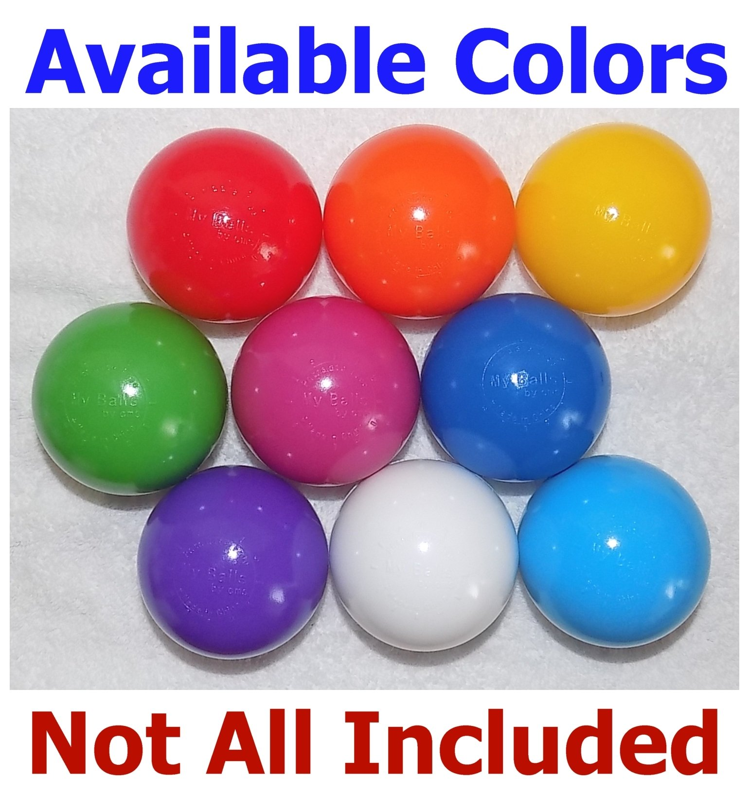 My Balls Pack of 600 Jumbo 3'' Red/Yellow/Green Colors of Season Heavy Duty Commercial Grade Crush-Proof Ball Pit Balls - Phthalate Free BPA Free Non-Recycled Plastic by My Balls (Image #5)