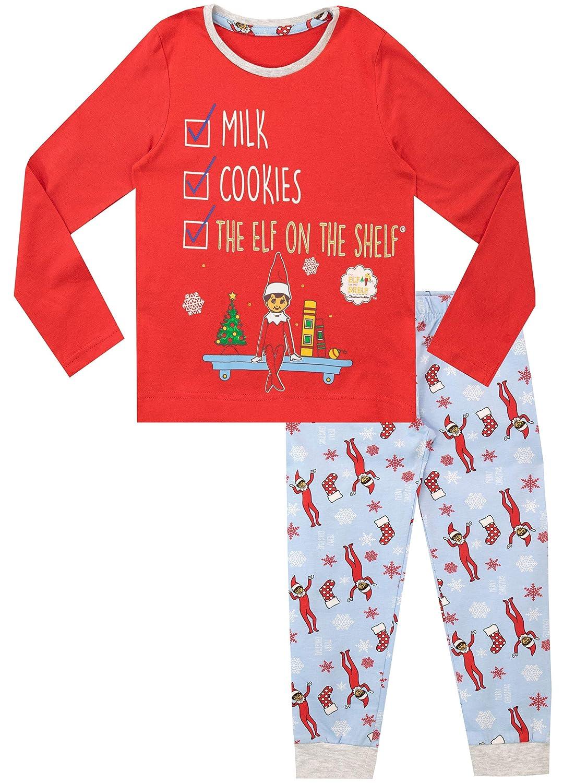 Elf on The Shelf Pigiama a Maniche Lunghe per Ragazze Natale Christmas