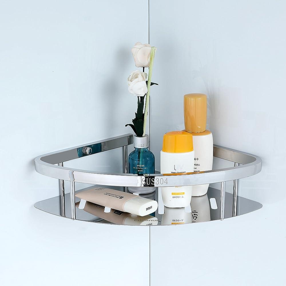 Eridanus Bathroom Corner Storage Shower Rack Shelf Organiser Basket ...