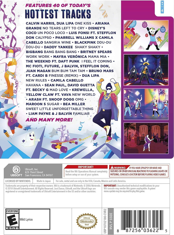 Amazon com: Just Dance 2019 - Wii Standard Edition: Nintendo Wii